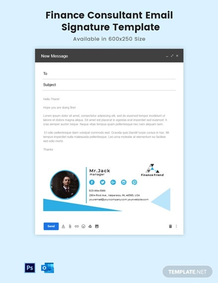 Finance Consultant Email Signature Template