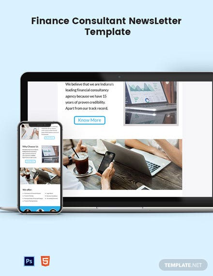 Finance Consultant Email Newsletter Template