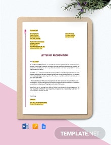 Free Employee Recognition Award Letter Template