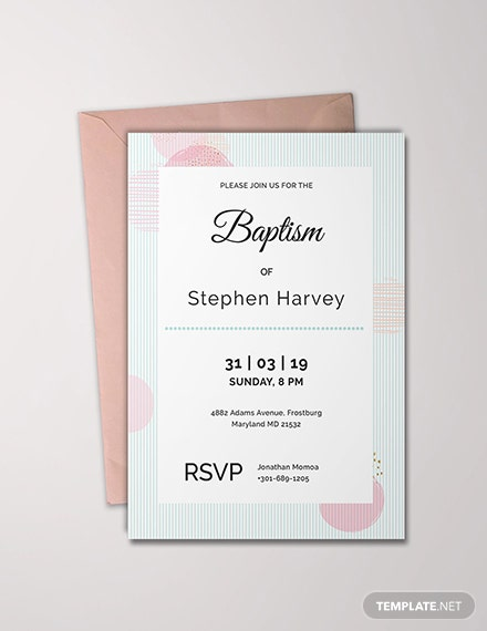 Free Sample Baptism Invitation Template