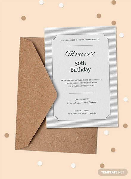 Formal Birthday Invitation Template