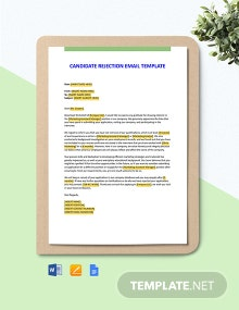 Candidate Rejection Email Template