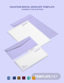 Vacation Rental Envelope Template