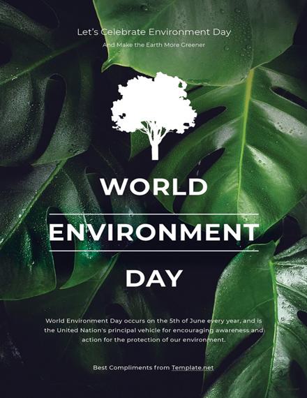 Free World Environment Day Invitation Template