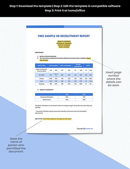 Free Sample HR Recruitment Report Format