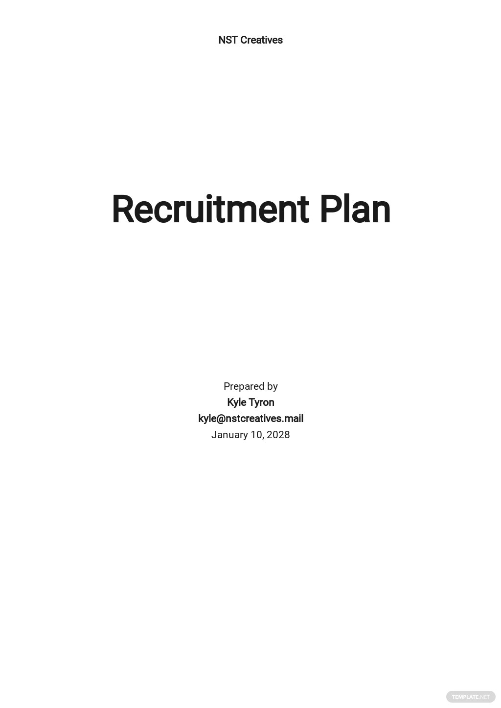 Staffing or Recruiting Plan Template