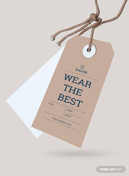 Free Clothing Tag Template