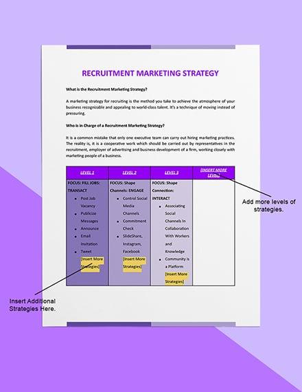 Recruitment Marketing Strategy Editable