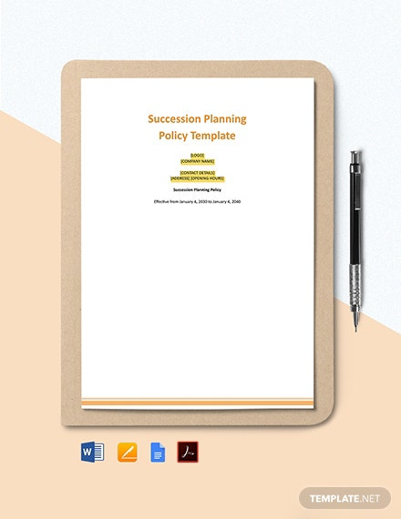 Free Succession Planning Policy Template