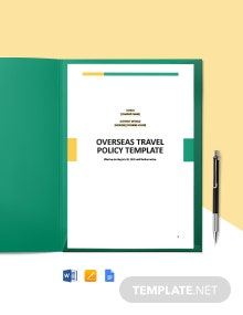 Overseas Travel Policy Template