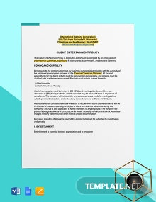Client Entertainment Policy Template