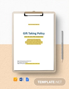 Gifts: Taking Policy Template