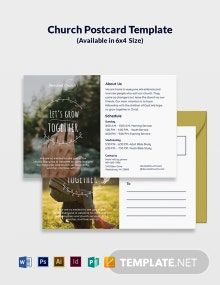 Church Postcard Template