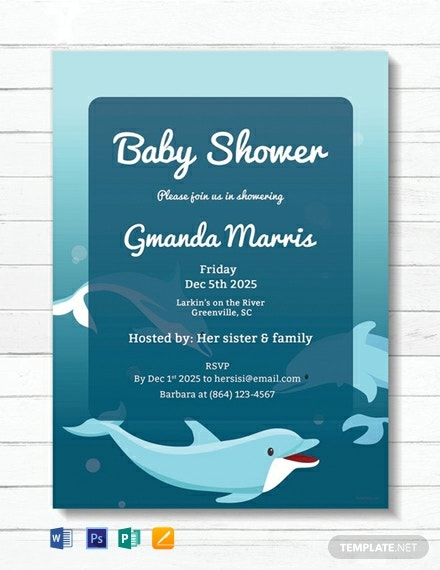 FREE Printable Baby Shower Invitation Template