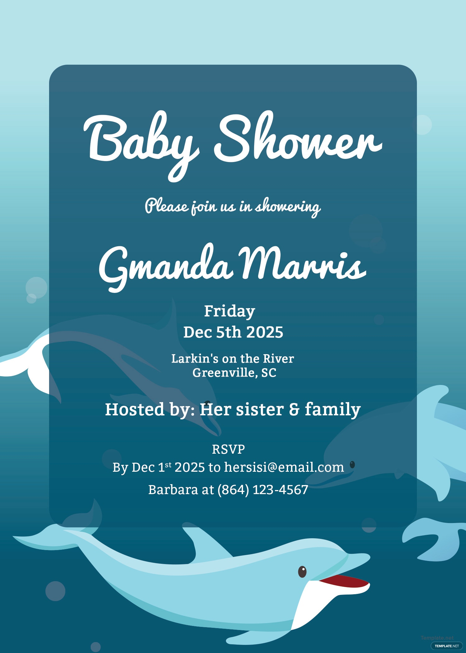 printable baby shower invitation template in adobe photoshop