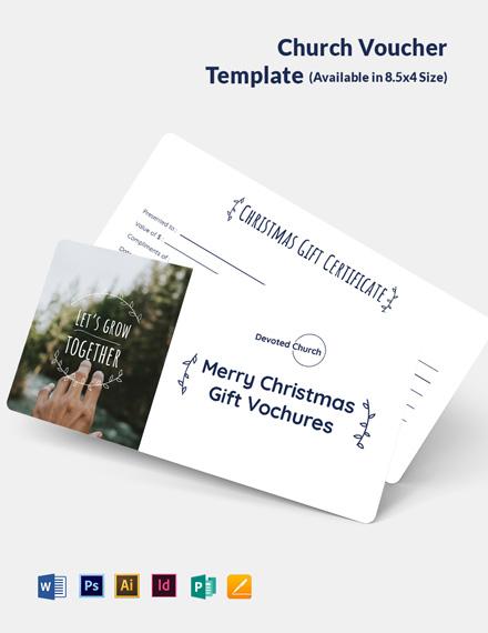 Church Voucher Template