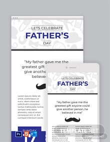 Free Father's Day Email Newsletter