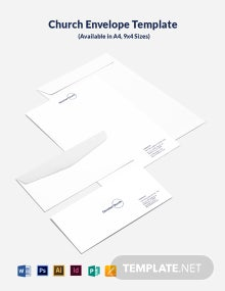 Church Envelope Template
