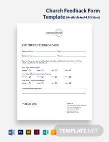 Church Feedback Form Template