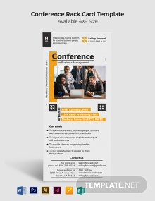 Conference Rack Card Template
