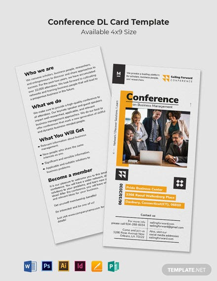 Conference DL Card Template