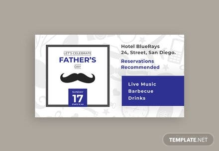 Free Father's Day Facebook App Cover Template