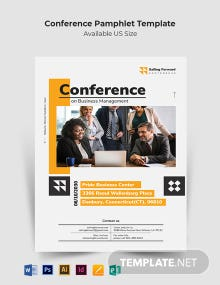 Conference Pamphlet Template