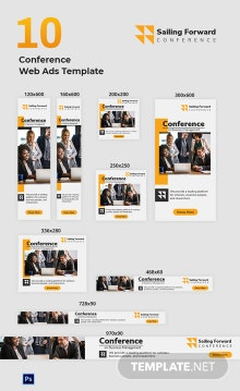 Conference Web Ads Template