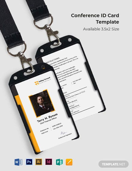 Conference ID Card Template