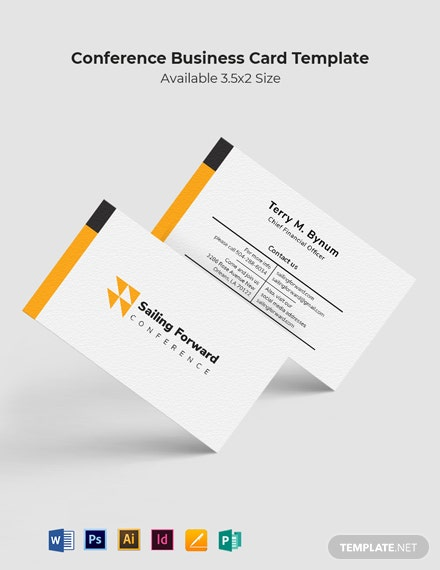 Conference Business Card Template