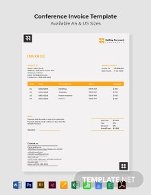 Conference Invoice Template