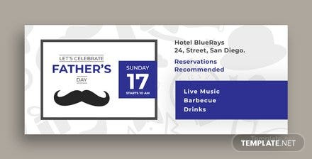 Free Father's Day Facebook Cover Template