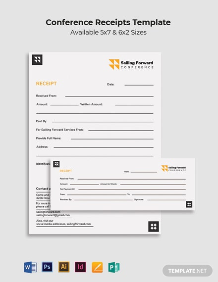 Conference Receipt Template