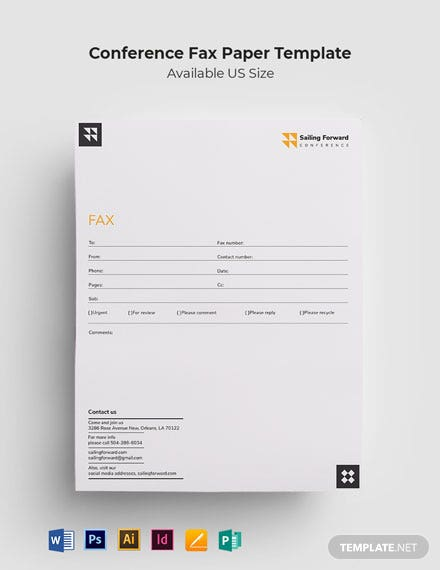 Conference Fax Paper Template