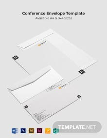 Conference Envelope Template