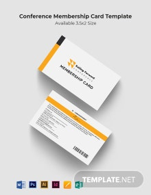 Conference Membership Card Template