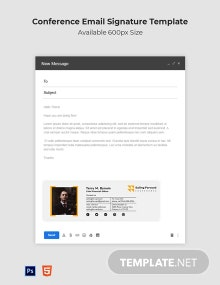 Conference Email Signature Template
