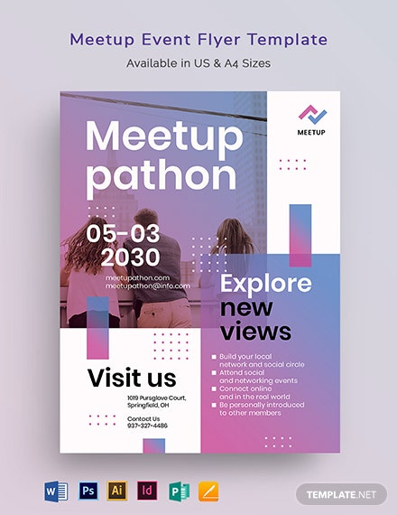 Meetup Event Flyer Template