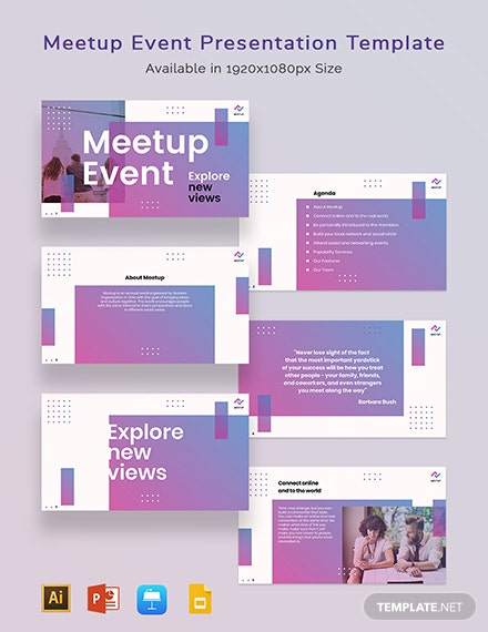 Meetup Event Presentation Template