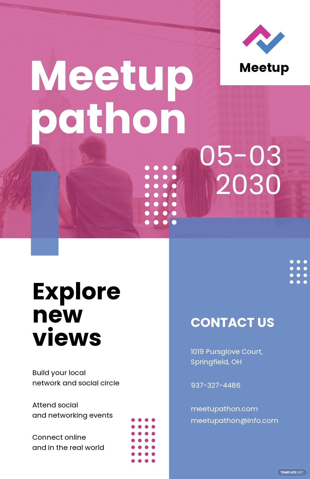 Meetup Event Poster Template.jpe