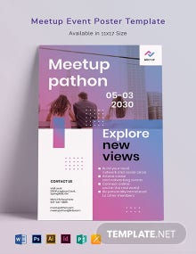 Meetup Event Poster Template