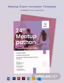 Meetup Event Invitation Template