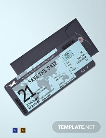 Free Boarding Pass Wedding Invitation Template