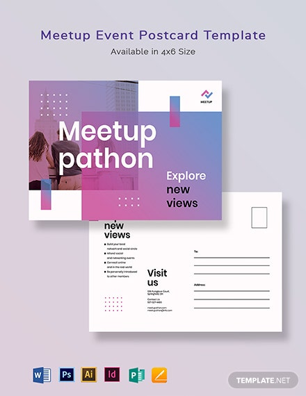 Meetup Event Postcard Template