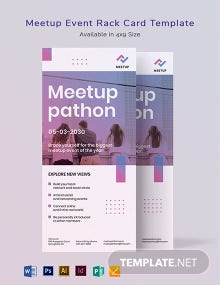 Meetup Event Rack Card Template