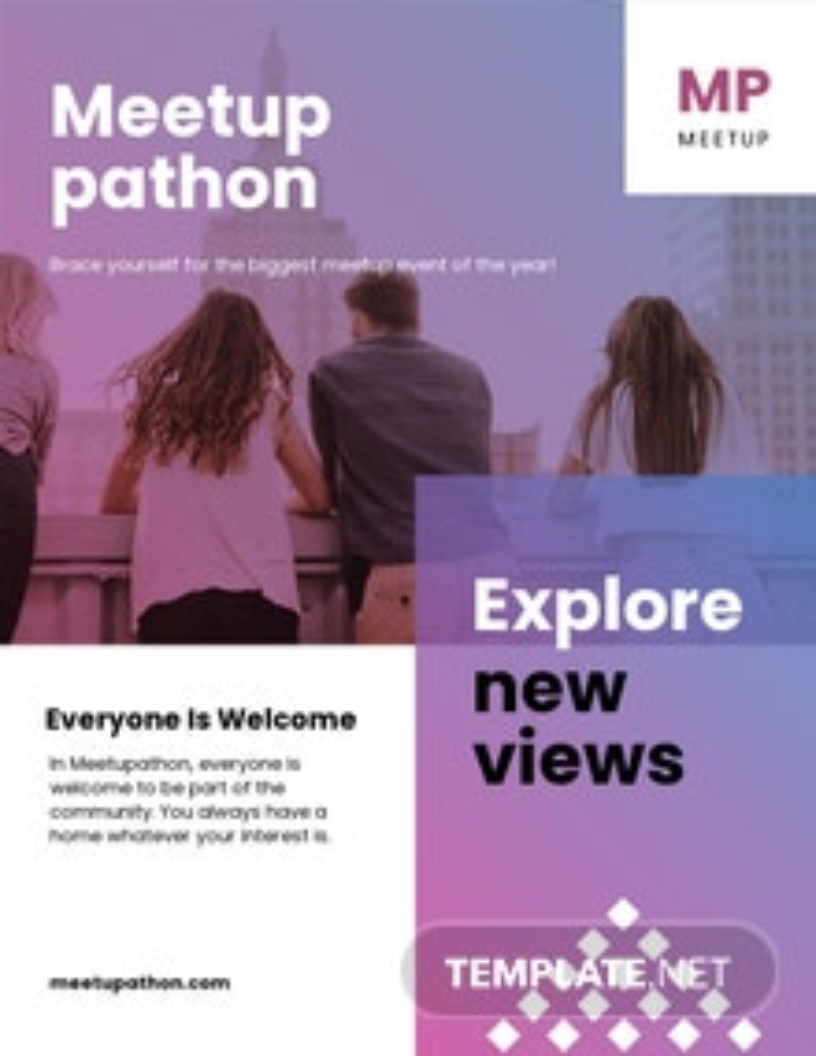 Meetup Event Leaflet Template