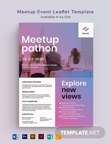 Meetup Event Leaflet Template