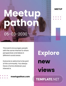 Meetup Event Pamphlet Template