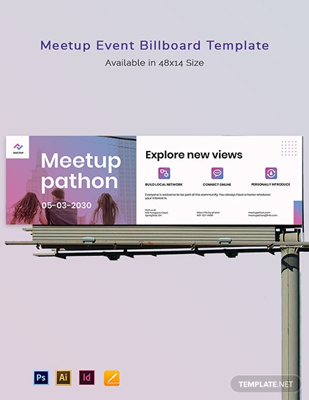 Meetup Event Billboard Template