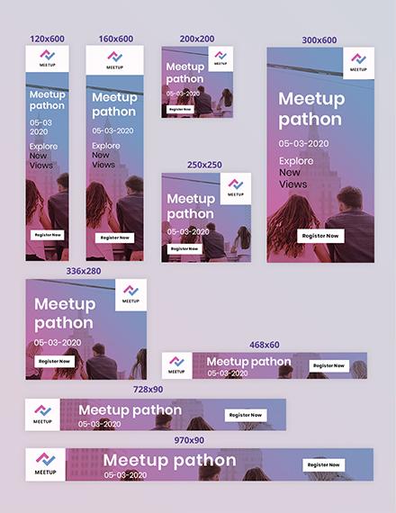 Meetup Event Web Ads Editable